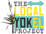 stylised picture of eastern cape aloe tree with the words local yokel project in turquoise yellow and black